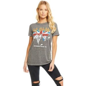 NWT Chaser Def Leppard Summer Tour 03' Gray Tee